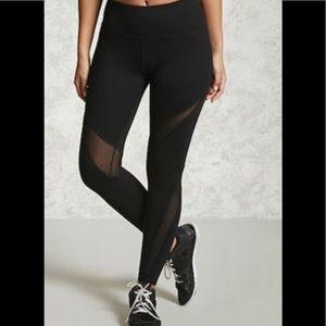 Forever 21 Mesh Inlay Workout Leggings